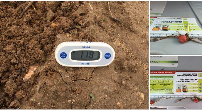 Le semis précoce Sem'Expert Dry à Grézac